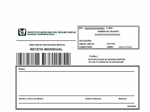 Receta Medica Del IMSS En Atizapn
