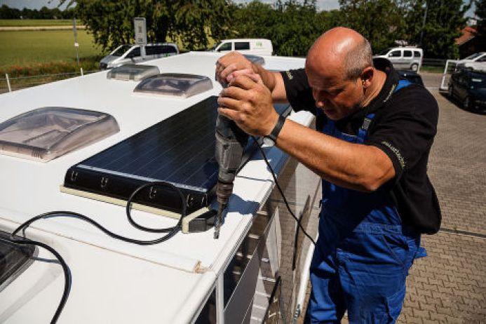 Camping Solaranlage