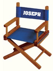 customized directors chair bar stool seat covers chairs teamlogo com custom imprint and embroidery kid s or child imprinted gold medal price includes decoration as seen