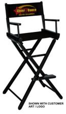 customized directors chair rei camp stowaway low custom embroidered 30 bar height gold medal director s finish