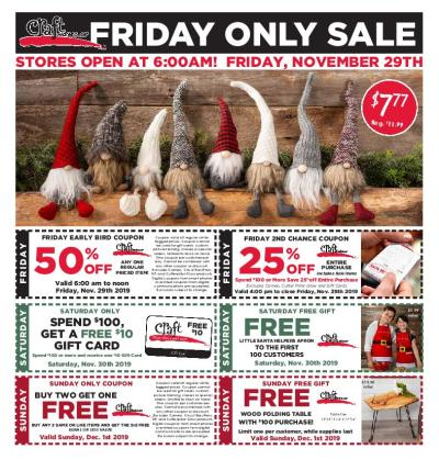 Craft Warehouse Black Friday 2020 Ad Deals Sales Blackfriday Com