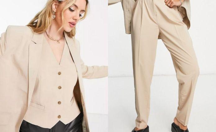 Object in beige pocket detail blazer - part of ensemble