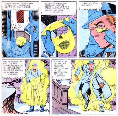Ditko Question Vic Sage Disguise