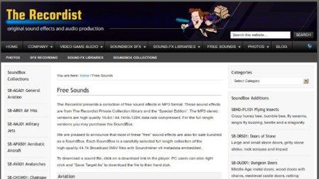 The Recordist, descargas gratuitas en un sitio con audios de pago