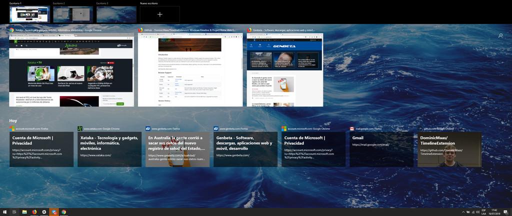 Windows Timeline Chrome