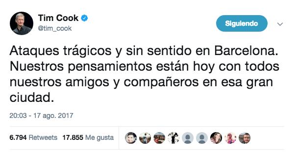 Tim Cook Barcelona