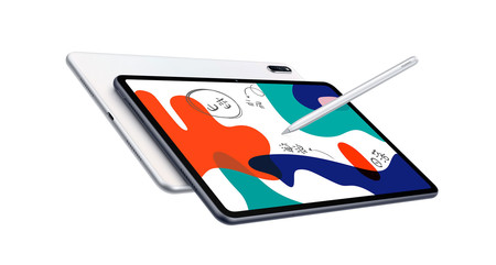 The Huawei MatePad 10.4 tablet returns to its historical minimum price on Amazon, 319.99 euros, and with the Huawei Freebuds 3i as a gift