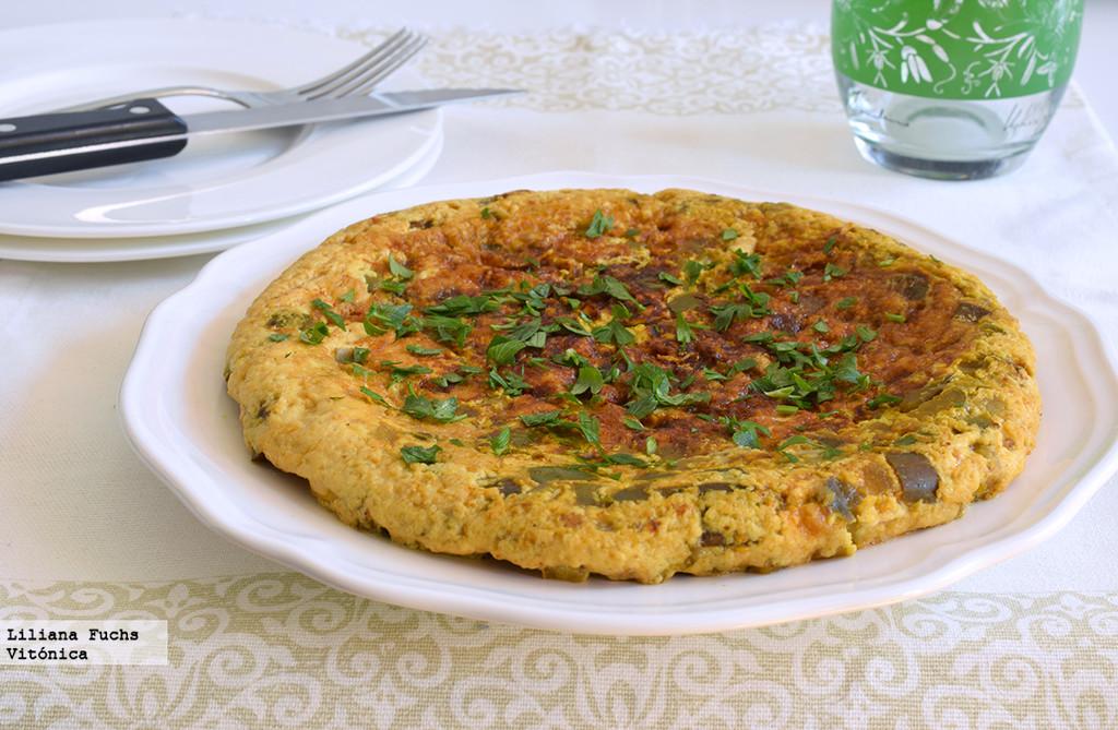 Tortilla de Claras con Berenjena