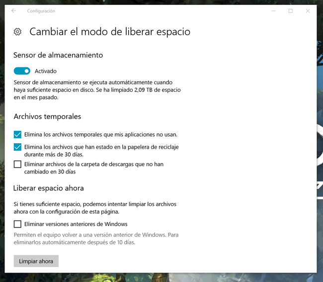 liberar espacio windows