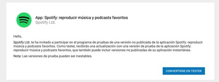 Spotify Beta Portada