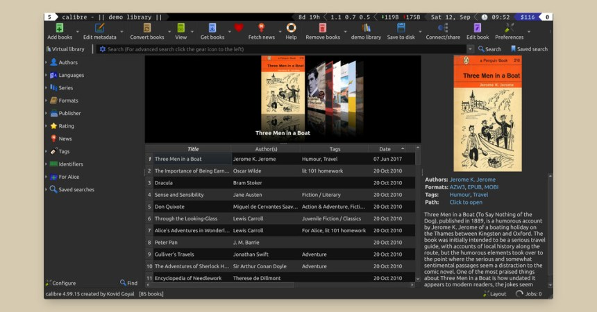 Disponible Calibre 5.0: la nueva versión del gestor de ebooks nos trae al fin modo oscuro, resaltado, mejor buscador al leer y más