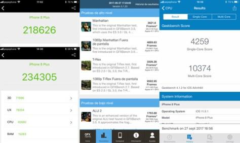 Potencia Benchmarks Iphone 8 Plus