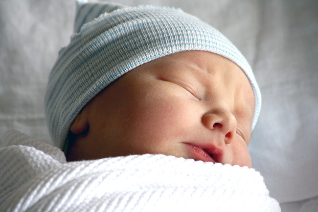 Bebe Recien Nacido Dormido