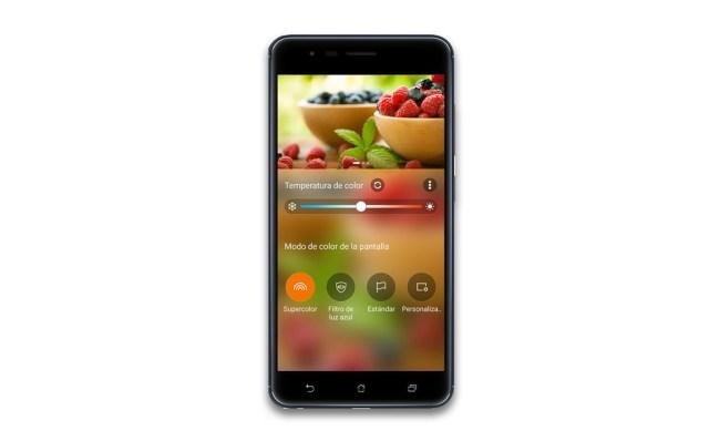 Asus Zenfone Zoom S Ajustes de pantalla