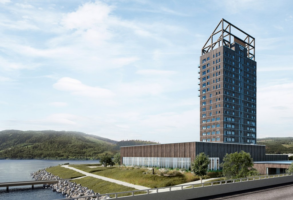 En Noruega están construyendo un rascacielos de madera, será el edificio de madera mas alto del planeta