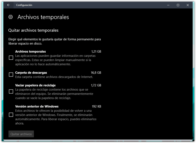 Archivos Temporales Windows 10