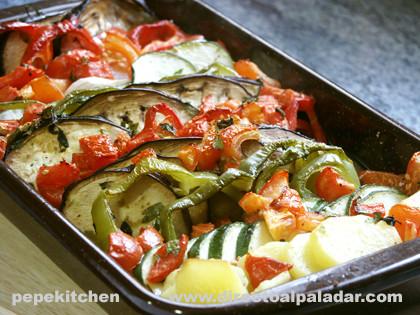 Gratinado de verduras Receta vegetariana