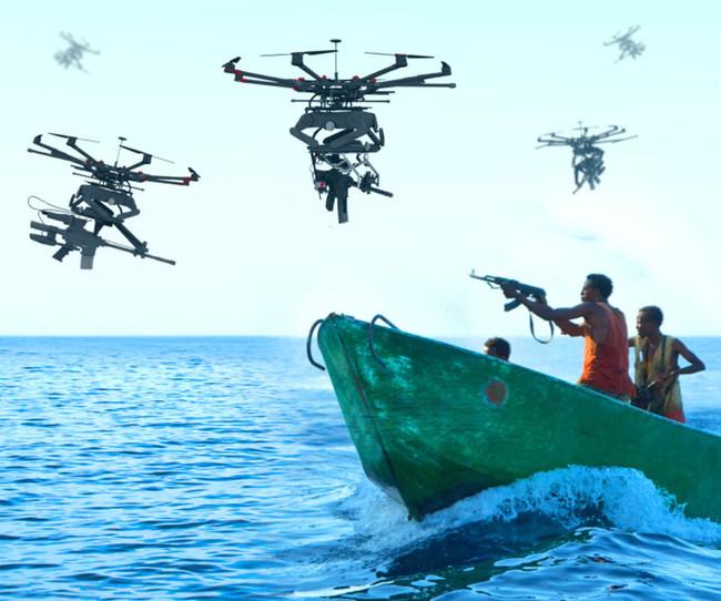 Permalink to Drones francotiradores, Duke Robotics pone ametralladoras y lanzagranadas en un drone