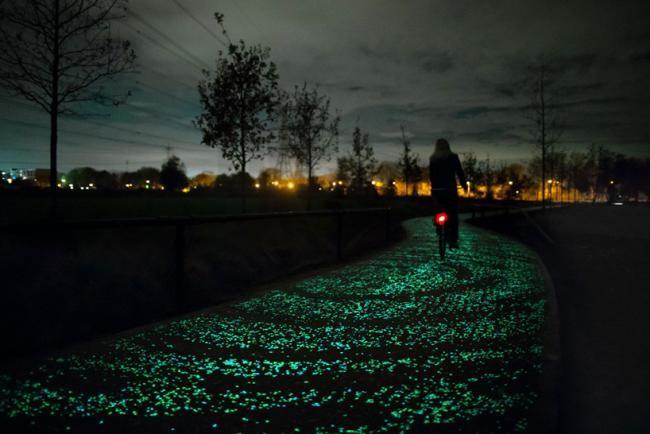 Daan Roosegaarde Opens Solar Powered Van Gogh Bike