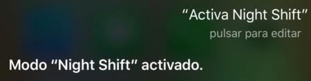Night Shift Siri