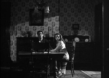 Victor Mature y Coleen Gray en El Beso de la Muerte