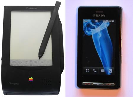 Apple Newton Pda et Lg Prada