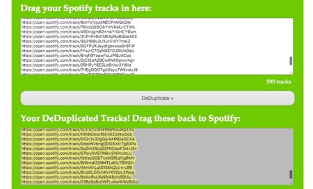 Spotify DeDuplicator