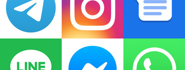 Comparativa a fondo de apps de mensajería en Android: WhatsApp, Telegram, Messenger, Instagram℗ y LINE cara a cara