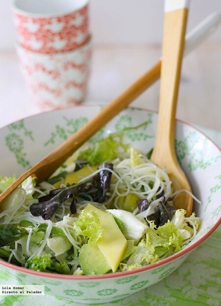 Rice Noodle Salad with Mango and Avocado