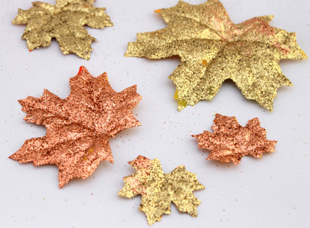 Fall Glitter Leaves