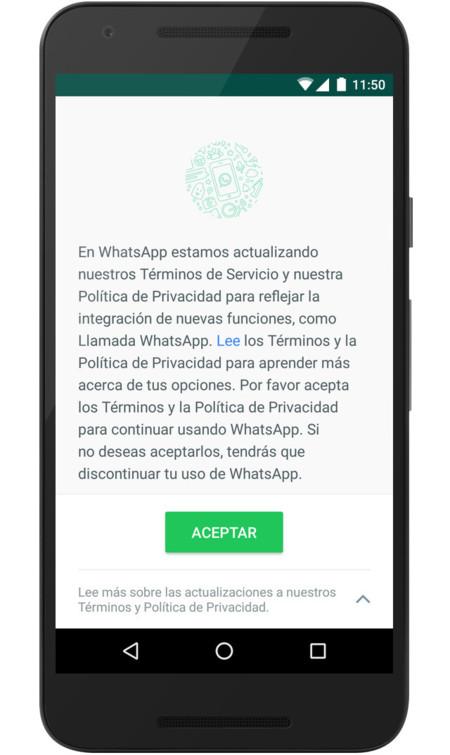 Whatsapp Términos Servicio