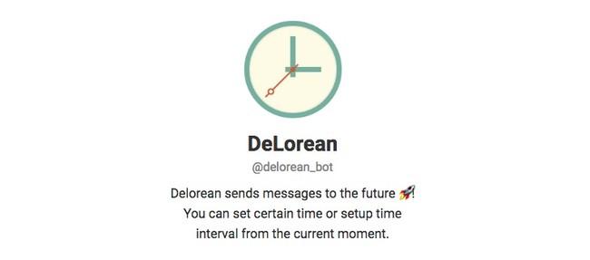 Telegram Contact Delorean Bot