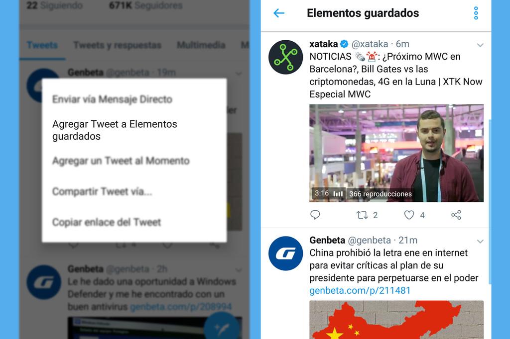 Como Funciona Elementos Guardados Twitter Funcion