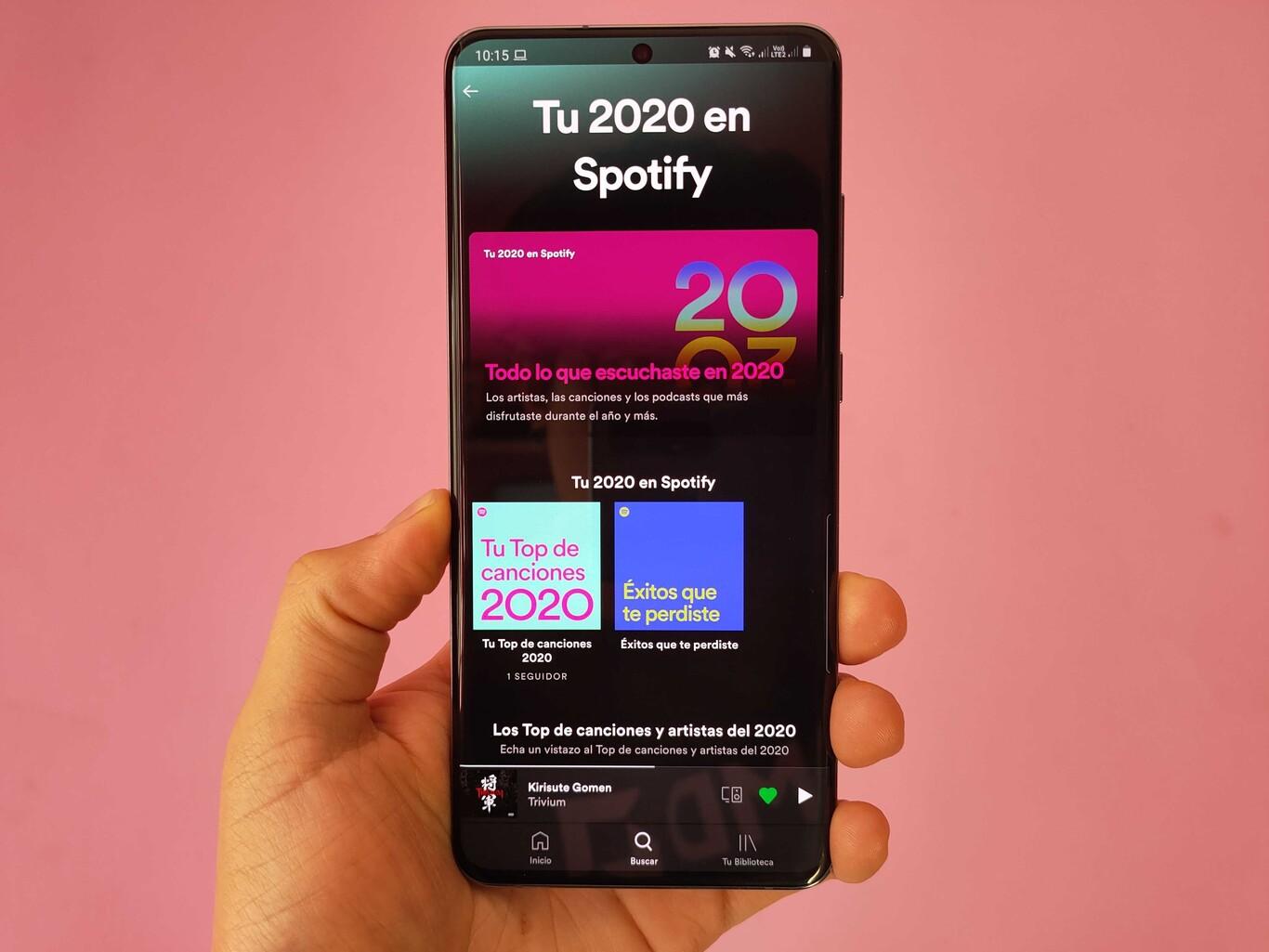interfaz de Spotify Wrapped