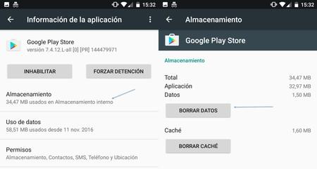 Borrar Datos Google Play Store