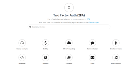 Two Factor Auth List