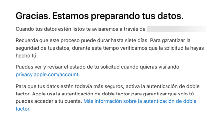 Datos Apple® Mail