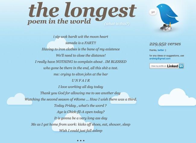 Window Y The Longest Poem In The World