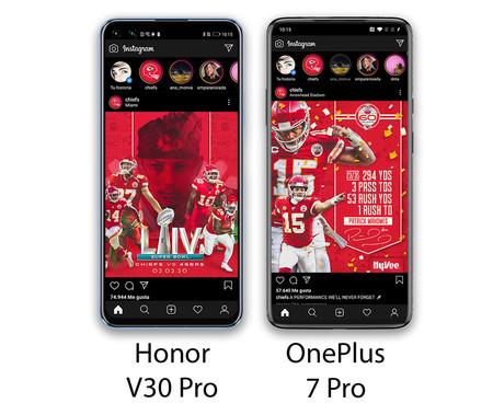 Honor V30 Pro Diferencia Interfaces