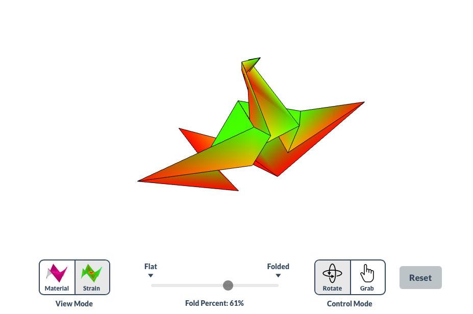 Este emulador de origami en 3D imita es muy leal a la realidad y plantea un desafío todavía mayor: alcanzar la figura en un solo paso