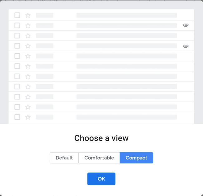 New Gmail Compact Setting 2
