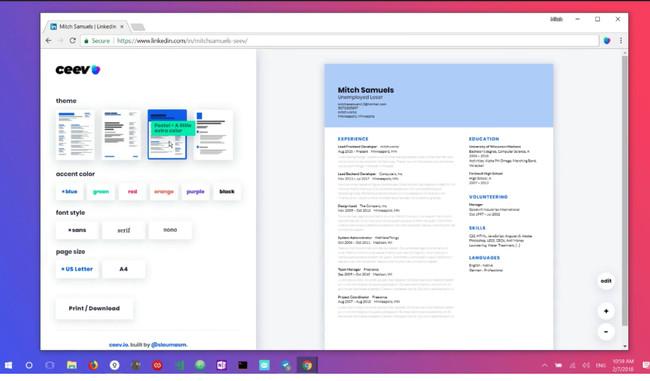 Ceev Io Transform Your Linkedin Into A Stunning Resume