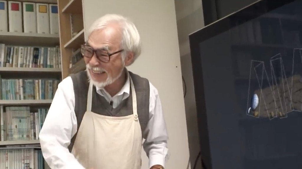 Permalink to Un pequeño vistazo a Hayao Miyazaki dirigiendo la que será su primera película de animación por ordenador