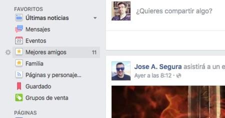 Facebook Mejores Amigos