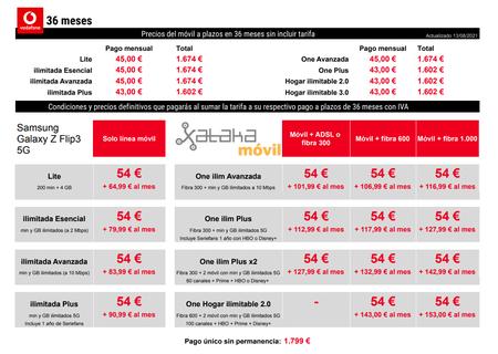 Precios Samsung℗ Galaxy℗ Z Fold3 Con Pago A Plazos Y Tarifas Vodafone