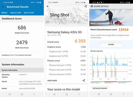 Samsung Galaxy℗ A52s 5g Benchmarks