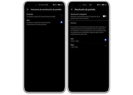 Huawei P40 Pro 02 Ajustes Resolucion Refresco
