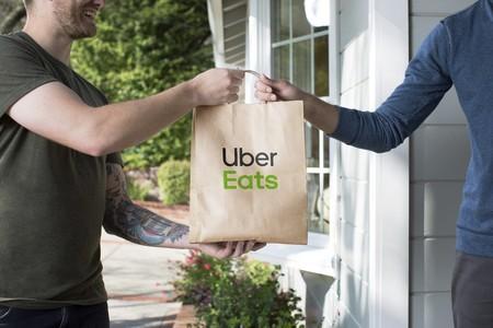 Una bolsa de Uber Eats