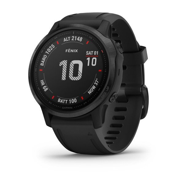 "Garmin Fénix 6S Pro - 1.2"", ABC sensors, Freq.  Cardiac, Maps, PacePro, GPS, ClimbPro, BT + WiFi"