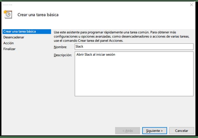 Iniciar Slack Con Windows